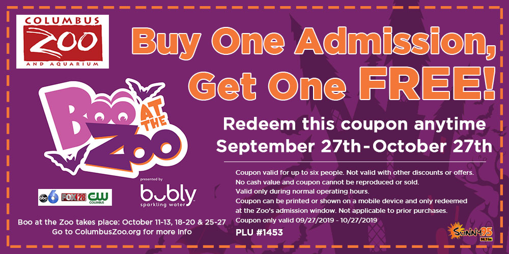Boo At The Zoo And Bogo Free Zoo Admission Sunny 95